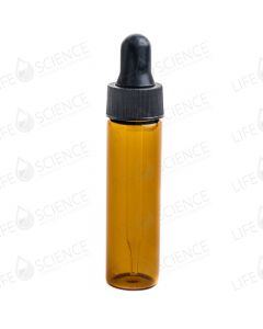 2 Dram Amber Glass Vial with Dropper (12-pack)