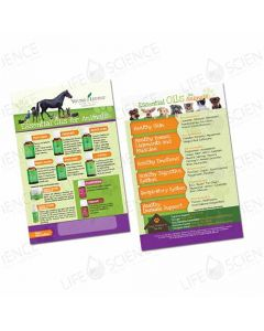 Essential Oils for Animals Flyer  (100 pack)