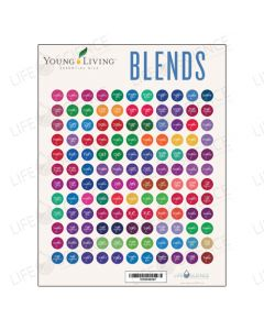 Young Living Oil Blends Bottle Stickers (132 Labels)