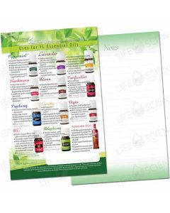 Uses for YL Essential Oils Flyer with Notes (100 pack)